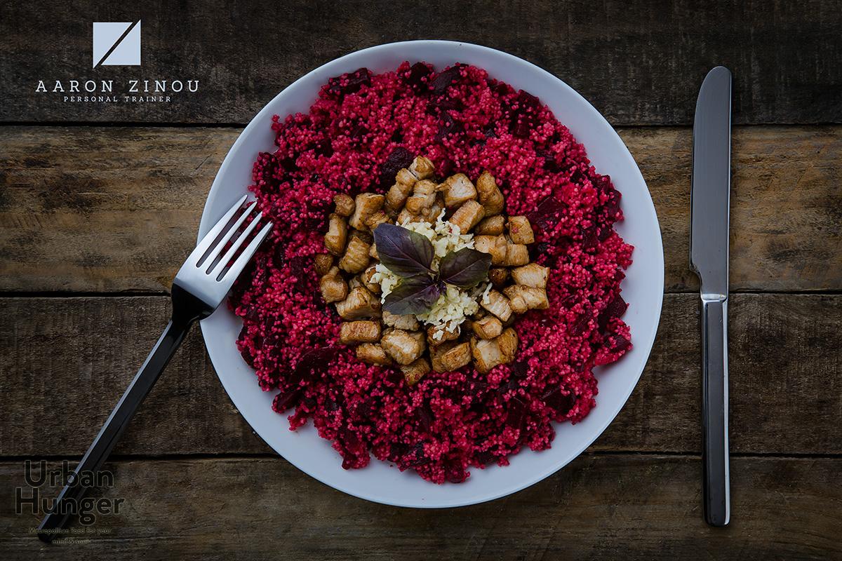 urban hunger rote beete couscous mit putenbrustw rfeln urban hunger. Black Bedroom Furniture Sets. Home Design Ideas